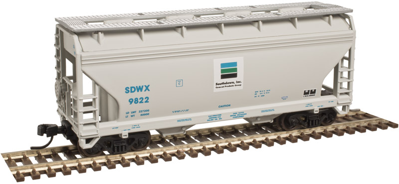 N Scale - Atlas - 50 003 610 - Covered Hopper, 2-Bay, ACF Centerflow - Southdown Cement - 9814