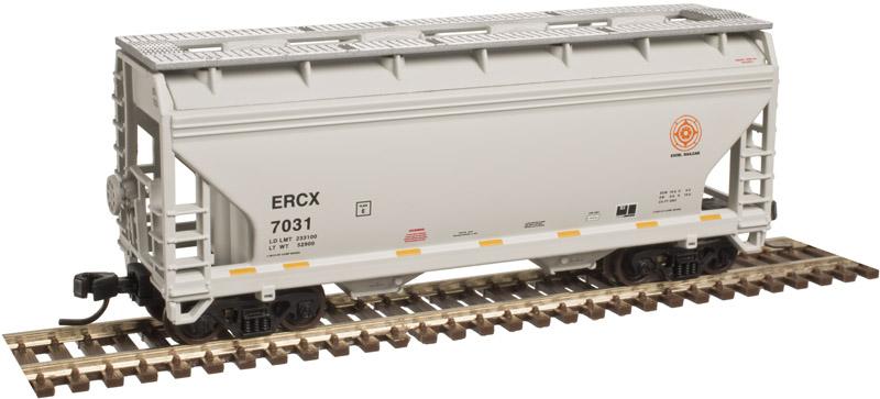 N Scale - Atlas - 50 003 616 - Covered Hopper, 2-Bay, ACF Centerflow - Excel Railcar - 7026
