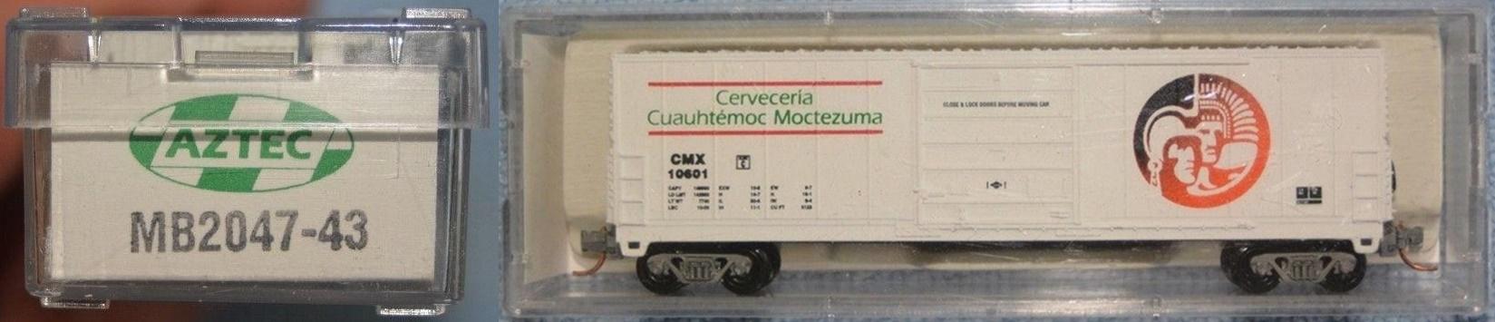 N Scale - Aztec - MB2047-43 - Boxcar, 50 Foot, Evans 5277 - Cervecería Cuauhtémoc Moctezuma - 10601