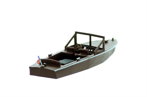 N Scale - Model Tech Studios - 1235 - Boat - Undecorated - Runabout