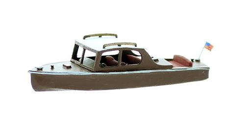 N Scale - Model Tech Studios - 1236 - Boat - Undecorated - Runabout