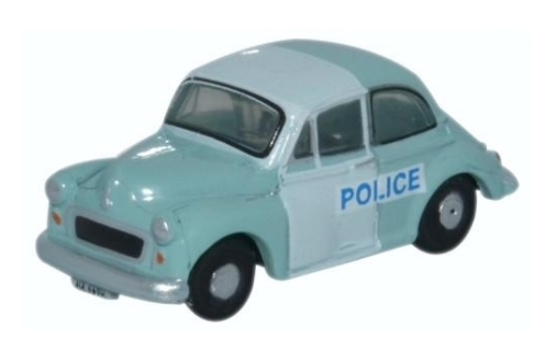 N Scale - Oxford Diecast - NMOS005 - Automobile, Morris Minor - Police Dept - AUL 669H