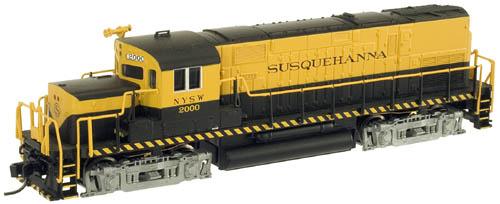 N Scale - Atlas - 40 000 129 - Locomotive, Diesel, Alco C-420 - Susquehanna - 2000