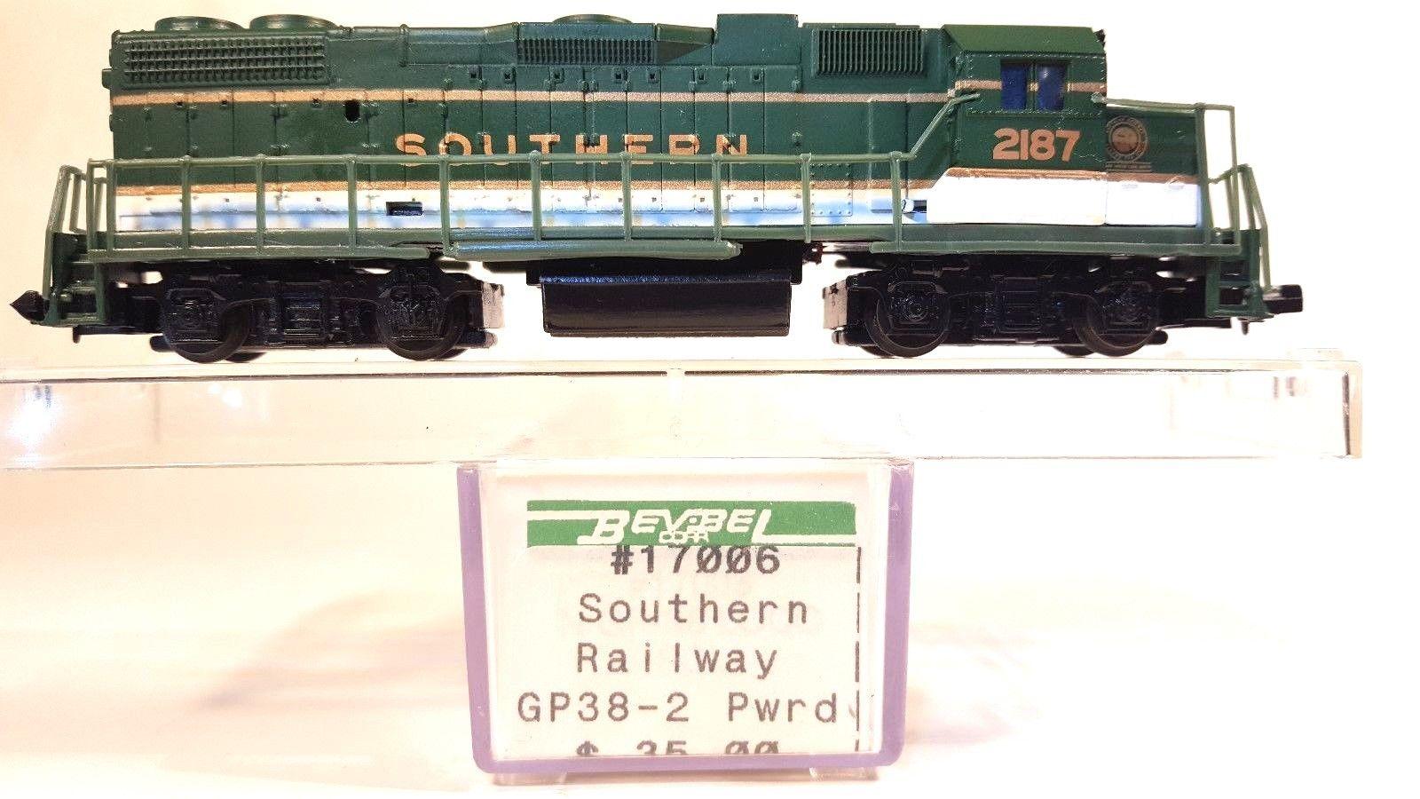 N Scale - Bev-Bel - 17006 - Locomotive, Diesel, EMD GP38-2 - Southern - 2187