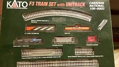 N Scale - Kato USA - 106-0002 - Freight Train, Diesel, North American, Transition Era - Canadian National - Train Set