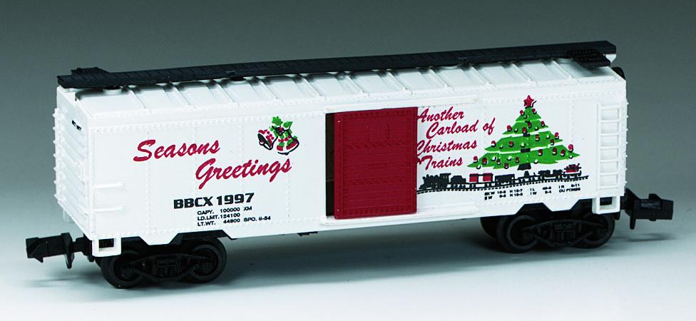 N Scale - Bev-Bel - 2176 - Boxcar, 40 Foot, PS-1 - Seasons Greetings - 1997