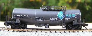 N Scale - Kato USA - 106-0002-3 - Tank Car, Single Dome, Taki 43000 - Archer Daniels Midland - 53692