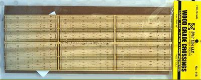 N Scale - Blair Line - 018 - Wood Grade Crossing - Undecorated - 12-Pack