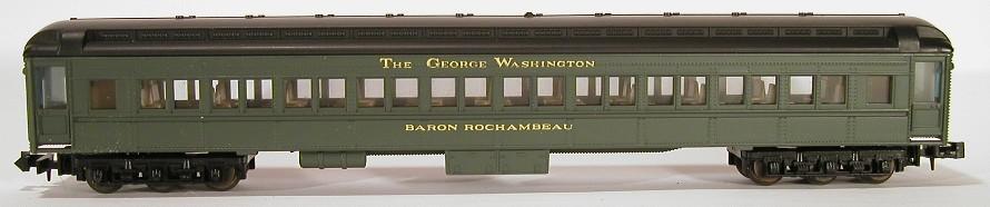 N Scale - Bev-Bel - 4501 - Passenger Car, Heavyweight, Pullman, Paired Window Coach - Chesapeake & Ohio - Baron Rochambeau