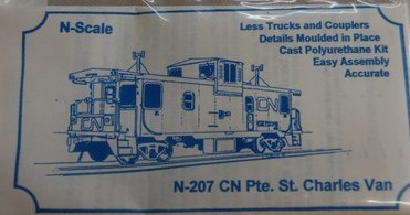 N Scale - Sylvan Scale Models - N-207 - Caboose, Pointe St. Charles - Canadian National - 79257