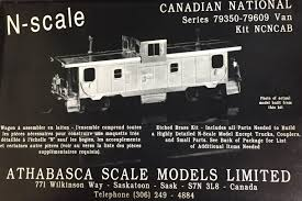 N Scale - Athabasca Scale models - NCNCAB - Caboose, Pointe St. Charles - Canadian National - 79350-79609
