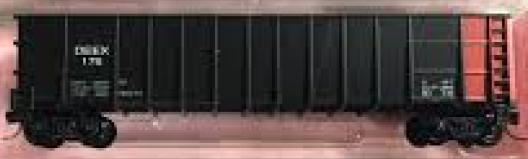 N Scale - Roundhouse - 8108 - Gondola, 50 Foot, Thrall Hi-Side - Detroit Edison - 176