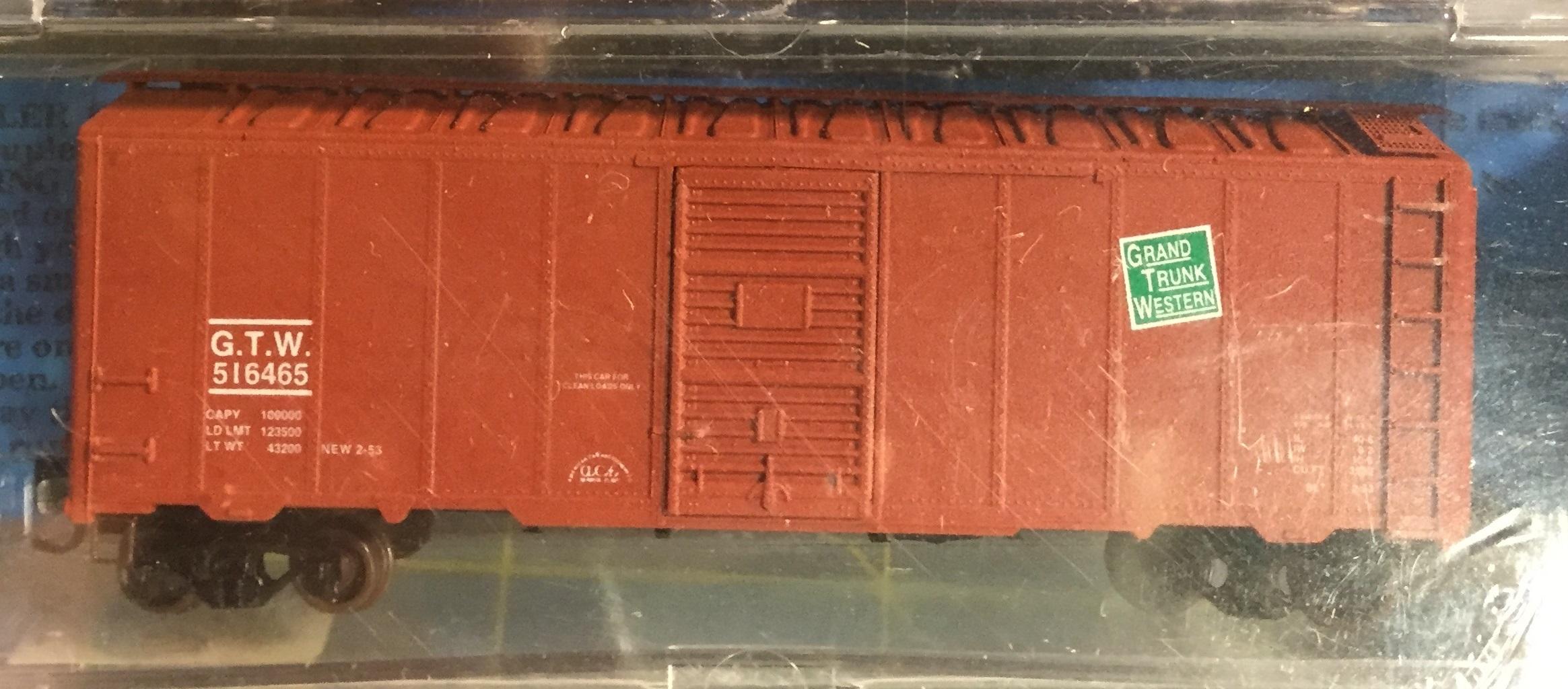 N Scale - Deluxe Innovations - 142102-2 - Boxcar, 40 Foot, AAR 1944 - Grand Trunk Western - 516465