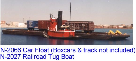 N Scale - Sylvan Scale Models - N-2066 - Railroad Car Float