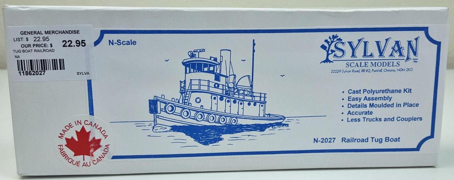 N Scale - Sylvan Scale Models - N-2027 - Railroad Tug Boat