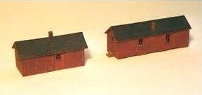 N Scale - Sylvan Scale Models - N-2001 - CNR Handcar Shed & Section  House - Canadian National