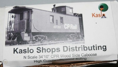 N Scale - Kaslo Shops Distributing - NK-01  - PGE Wide Vision Caboose-Round Window - Pacific Great Eastern
