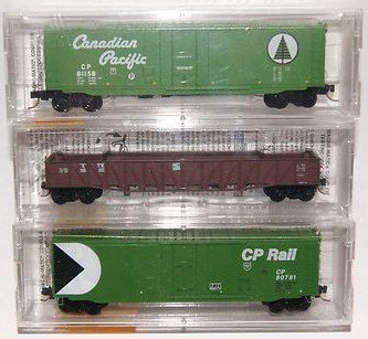 N Scale - Micro-Trains - 19898 - Mixed Freight Consist, North America, Transition Era - Canadian Pacific - 3-Pack