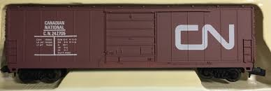 N Scale - Life-Like - 7900L - Boxcar, 40 Foot, PS-1 - Canadian National - 242705