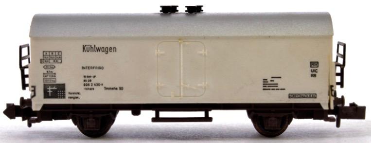 N Scale - Minitrix - 13256-HW - Reefer, 4-Wheel, Kühlwagen - Deutsche Bahn - 806 2 430-7