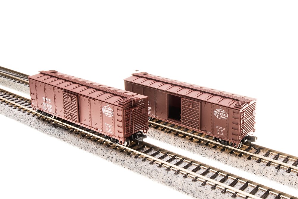 N Scale - Broadway Limited - 3658 - Boxcar, 40 Foot, Steel Single Door - New York Central - 4-Pack