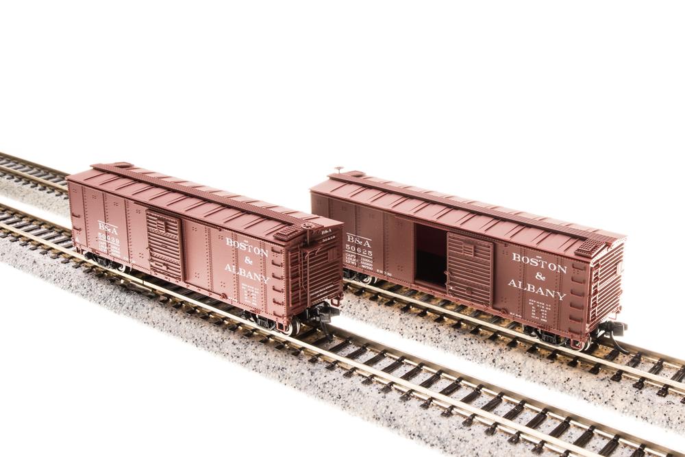 N Scale - Broadway Limited - 3662 - Boxcar, 40 Foot, Steel Single Door - Boston & Albany - 50634, 50624, 50626, 50628