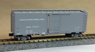 N Scale - Micro-Trains - 020 00 477 - Boxcar, 40 Foot, PS-1 - United States Marine Corps - 173227