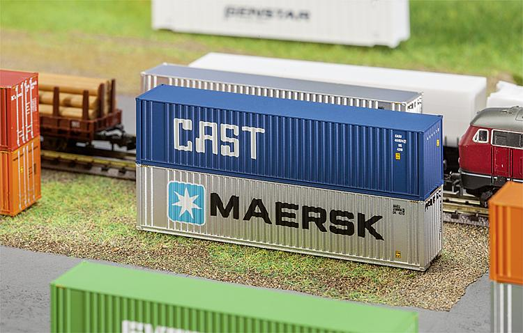 N Scale - Faller - 272841 - Container, 40 Foot, Hi-Cube - CAST Container Line - 465369 0