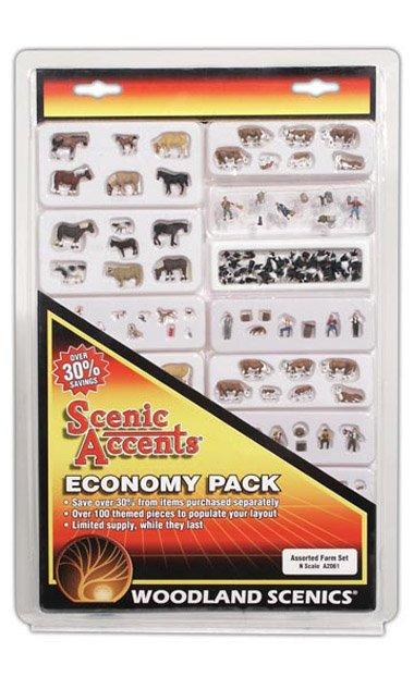 N Scale - Woodland Scenics - A2061 - Various - Animals - Farm Animals