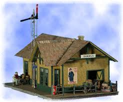 N Scale - Bar Mills - 0922 - Small Depot - Railroad Structures