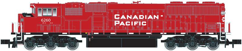 N Scale - Atlas - 40 002 043 - Locomotive, Diesel, EMD SD60M - Canadian Pacific - 6258