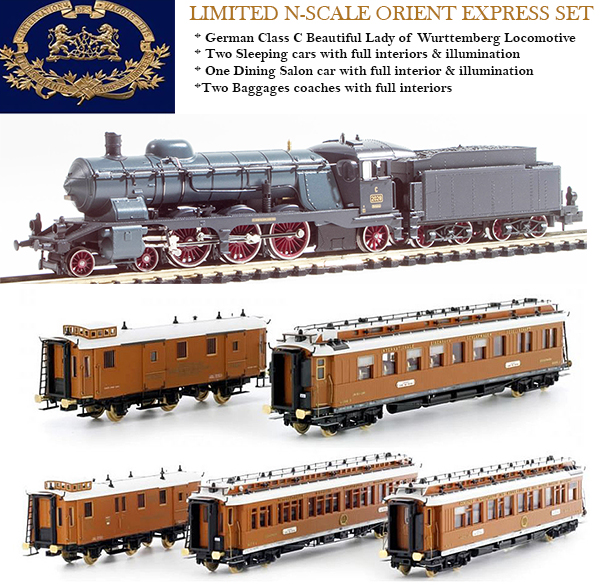 N Scale - Kato Lemke - H22100-2 - Locomotive, Steam, 4-6-2, Württemberg C - Compagnie Internationale des Wagons-Lits