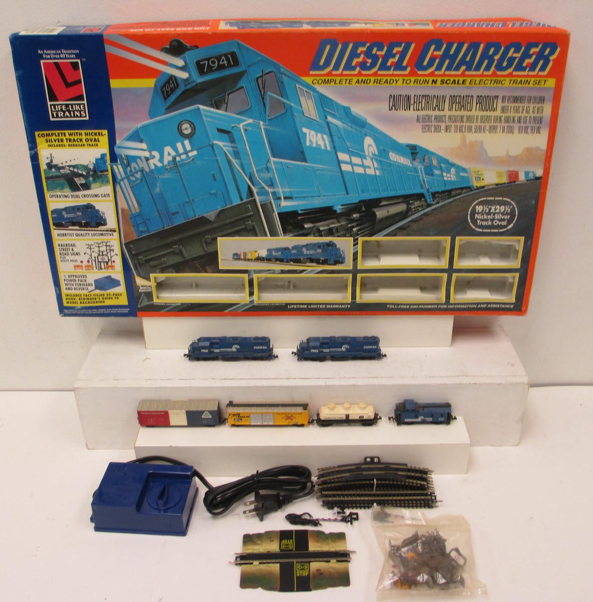 N Scale - Life-Like - Diesel Charger - Freight Train, Diesel, North American, 2nd Generation Diesel Era - Conrail