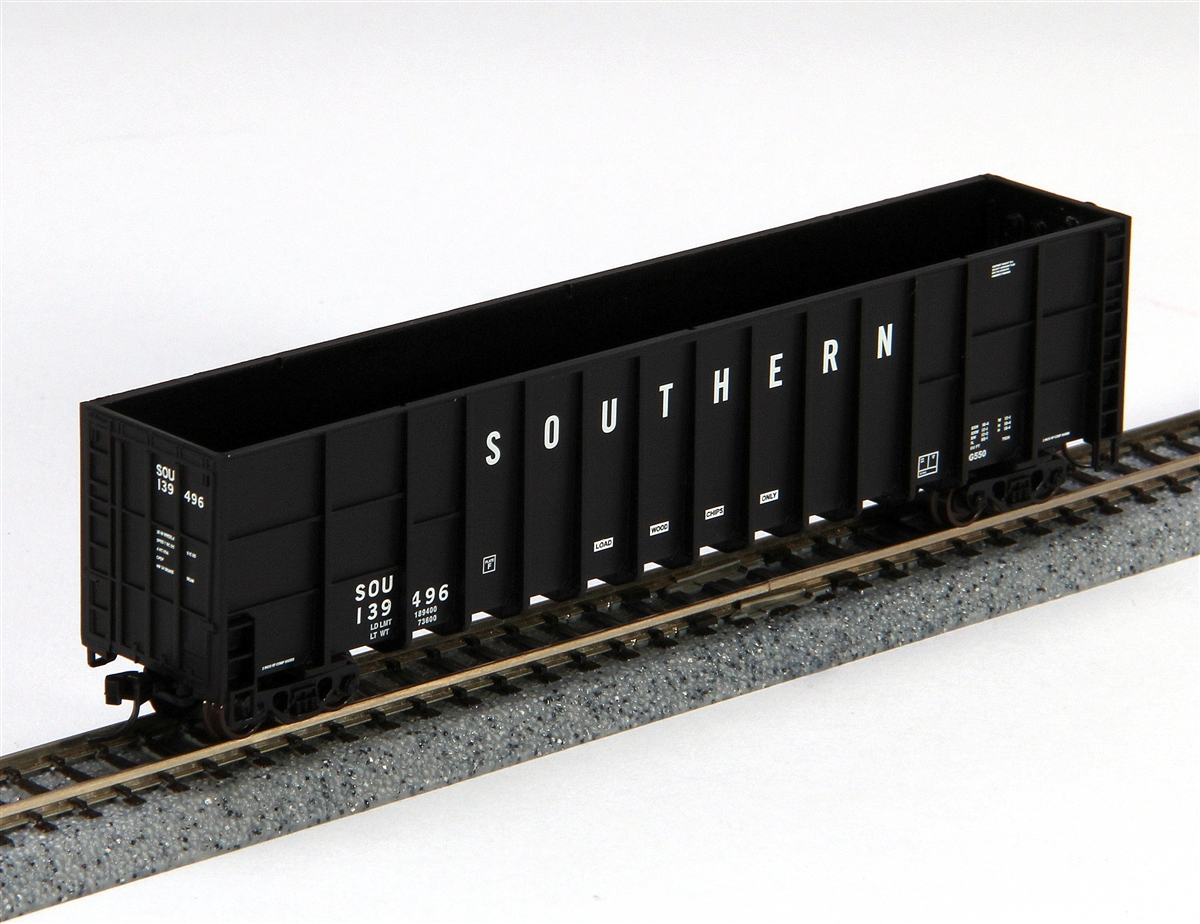 N Scale - Deluxe Innovations - 100312 - Gondola, Woodchip - Southern - 139563, 139664