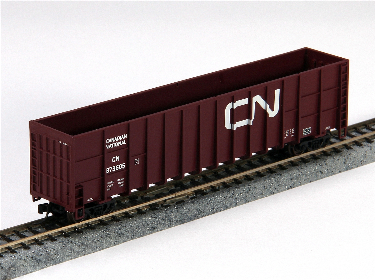 N Scale - Deluxe Innovations - 100413 - Gondola, Woodchip - Canadian National - 873639, 873660, 873673