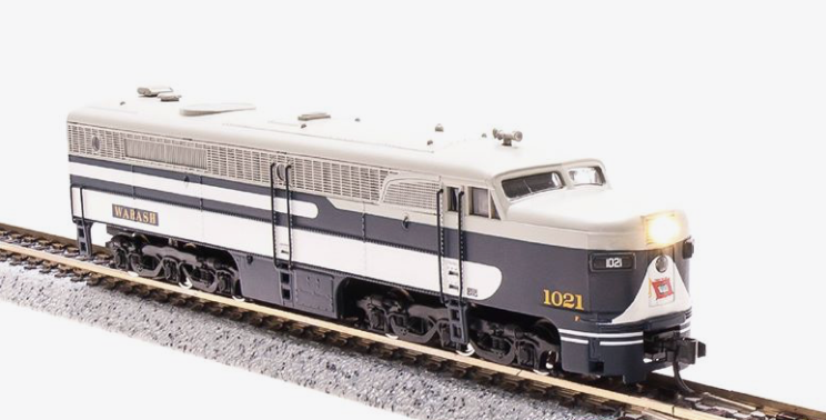 N Scale - Broadway Limited - 3216 - Locomotive, Diesel, Alco PA/PB - Wabash - 1021A