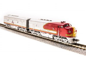 N Scale - Broadway Limited - 3480 - Locomotive, Diesel, EMD F3 - Santa Fe - 18L, 18A
