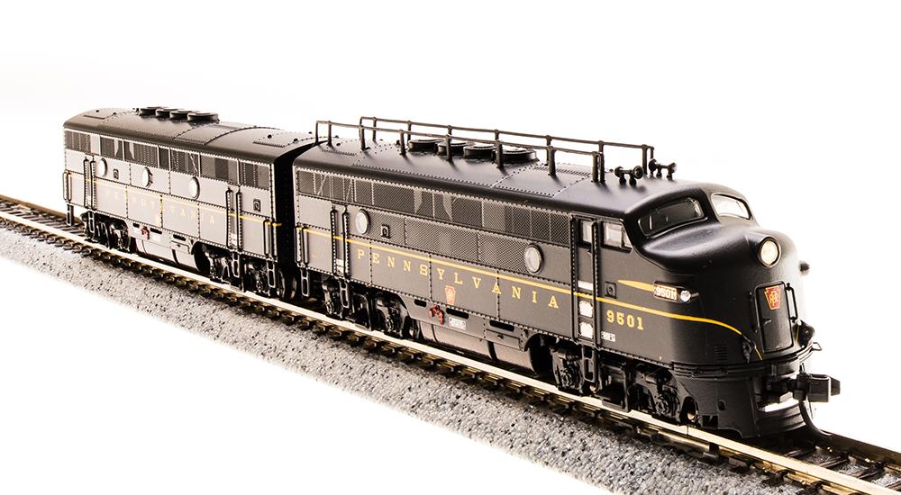 N Scale - Broadway Limited - 3483 - Locomotive, Diesel, EMD F3 - Pennsylvania - 9501A. 9501B