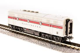 N Scale - Broadway Limited - 3489 - Locomotive, Diesel, EMD F3 - Burlington Route - 116C