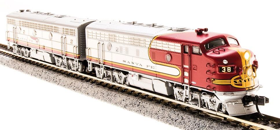 N Scale - Broadway Limited - 3510 - Locomotive, Diesel, EMD F7 - Santa Fe - 38L, 38A