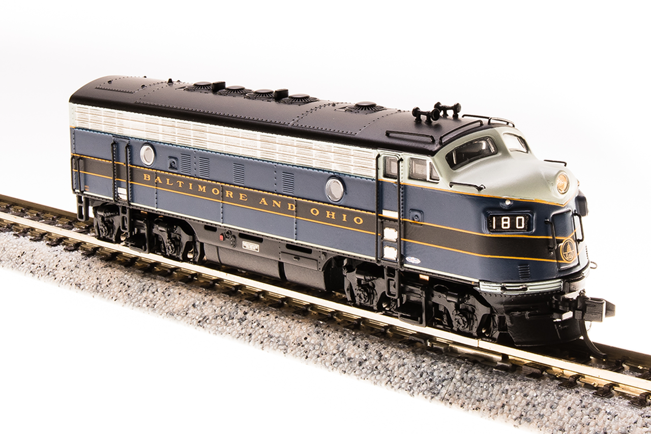 N Scale - Broadway Limited - 3520 - Locomotive, Diesel, EMD F7 - Baltimore & Ohio - 182A