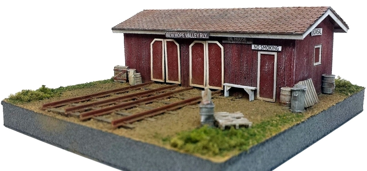 N Scale - Rail Scale Models - 1140 - Speeder Shed - Railroad Structures - Speeder Shed