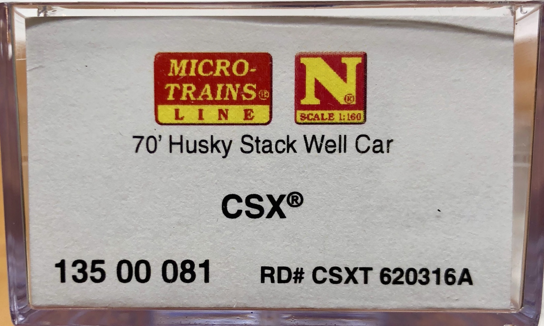 N Scale - Micro-Trains - 135 00 081 - Container Car, Single Well, Gunderson Husky Stack 48 - CSX Transportation - 620316A