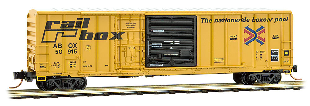 N Scale - Micro-Trains - 026 00 070 - Boxcar, 50 Foot, Steel - RailBox - 50915