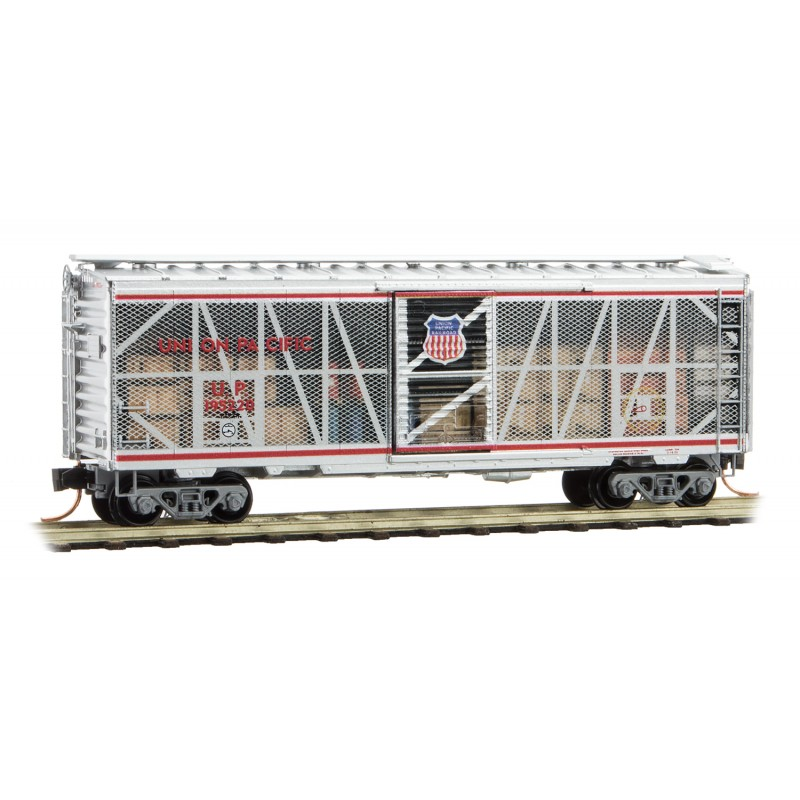 N Scale - Micro-Trains - 020 00 157 - Boxcar, 40 Foot, PS-1 - Union Pacific - 195220