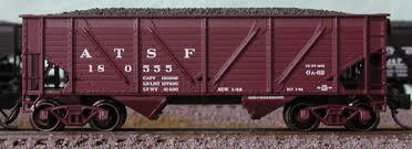 N Scale - Bluford Shops - NSE BLU 17-19 - Open Hopper, 2-Bay, Composite - Santa Fe - 180400, 180476, 180512