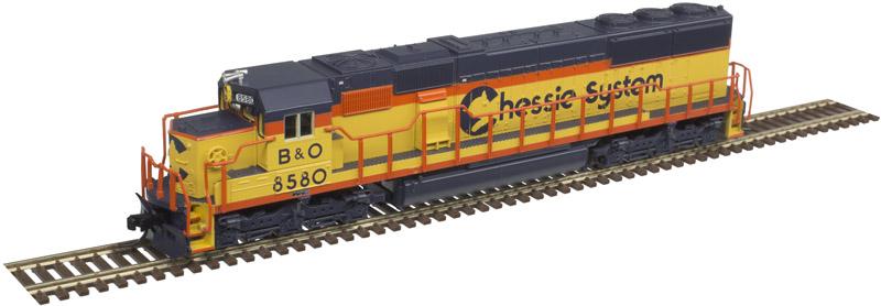 N Scale - Atlas - 40 003 935 - Locomotive, Diesel, EMD SD50 - Chessie System - 8591