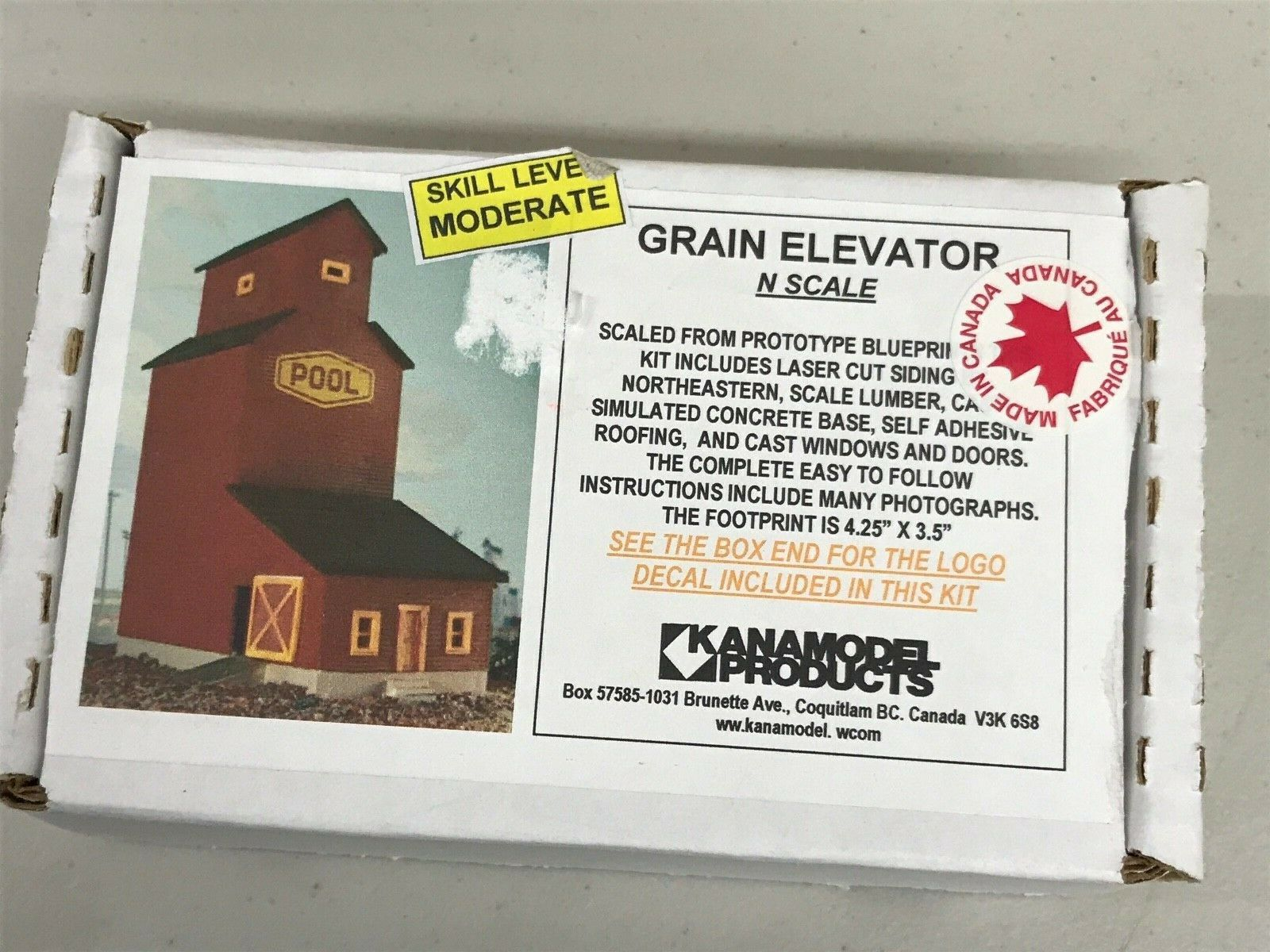 N Scale - KanaModel - 6019 - Grain Elevator - Manitoba Government