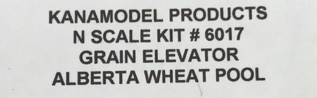 N Scale - KanaModel - 6017 - Grain Elevator - Alberta Government