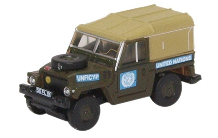 N Scale - Oxford Diecast - NLRL001 - Automobile, Land Rover, 1/2 Ton - United Nations - 50 FL 91
